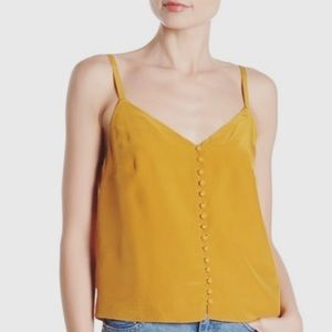 Madewell Sz 4 Vintage Gold Silk Button Down Cami